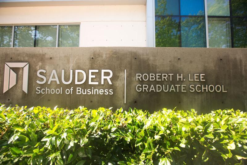 ubc Sauder school of business front sign image