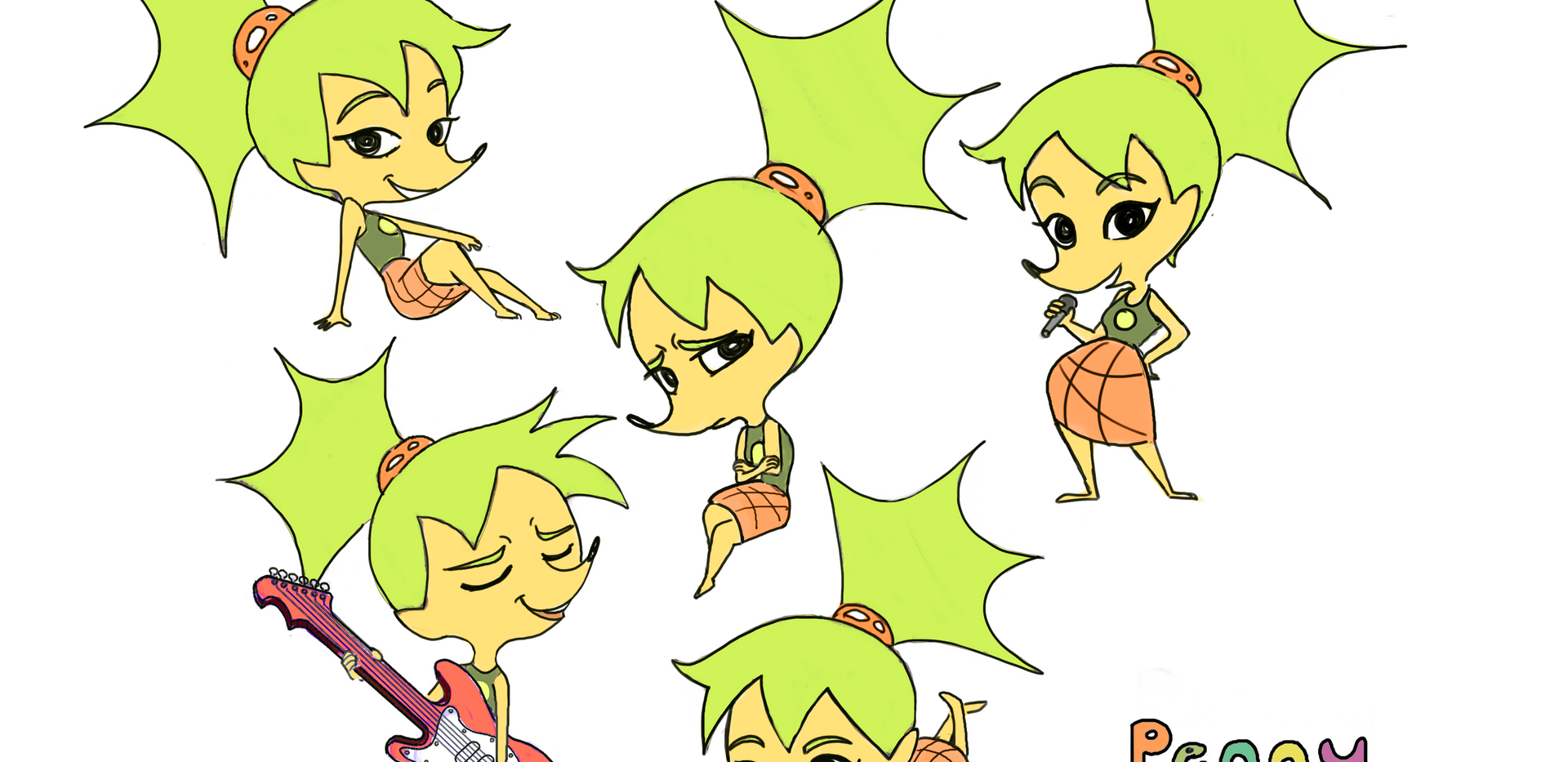 Penny Poses Line Colour.png