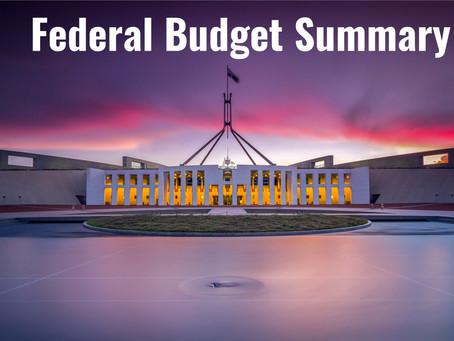 Federal Budget Summary 2020