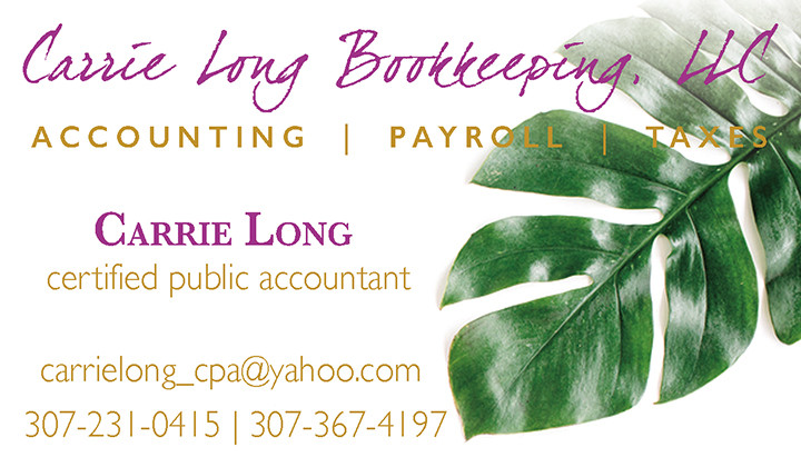 Carrie Long Business Card