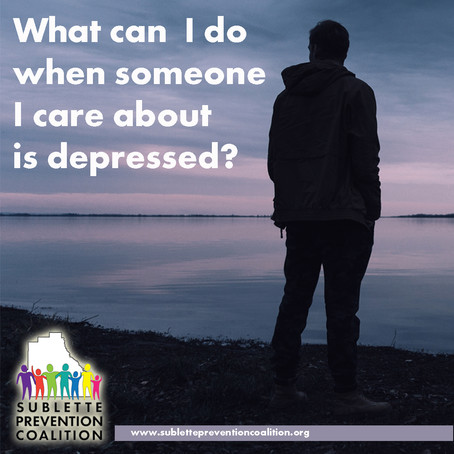 What can  I do when someone I care about is depressed?