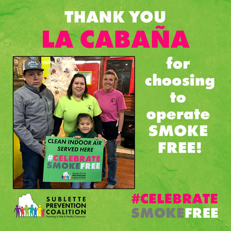 Celebrate Smoke Free at La Cabaña