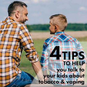 Vaping? Smoking? Tips on how to talk to your kids about it.