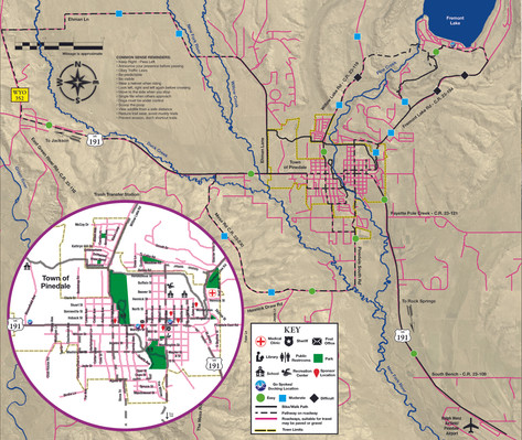 Pinedale Pathways Map