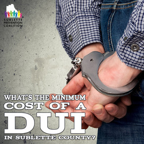 What is the average cost of a DUI in Sublette County?