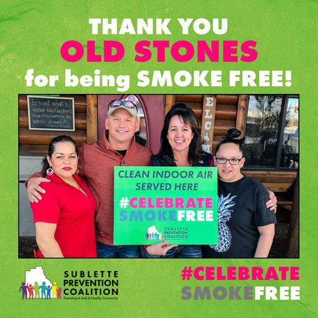 Celebrate Smoke Free at Old Stones!