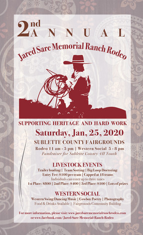 Jared Sare Memorial Ranch Rodeo poster