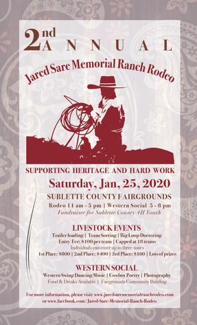 Jared Sare Memorial Ranch Rodeo poster
