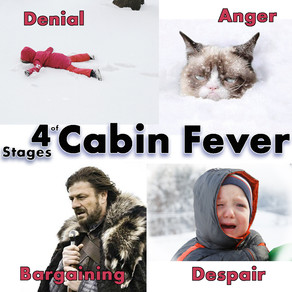 4 Stages of Cabin Fever
