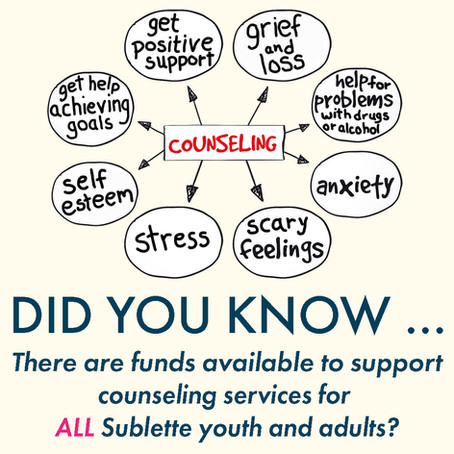 Counseling Funds for ALL Sublette Youth & Adults