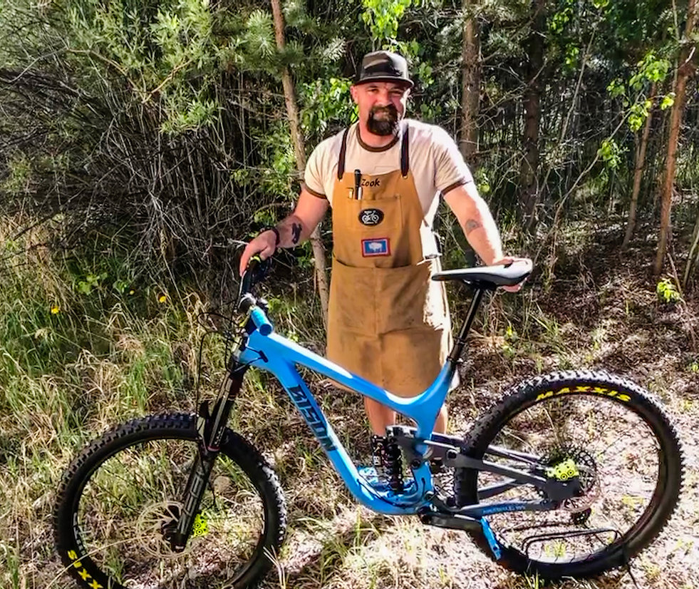 Bison Bicycle Co. creator, Andrew Zook with a Savage model