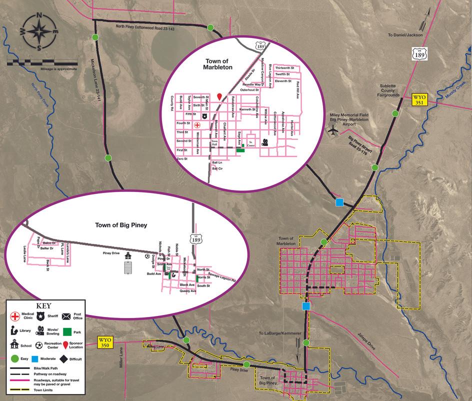Big Piney Pathways Map