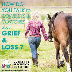 How do you help your teenage cowboy/cowgirl deal with grief & loss?
