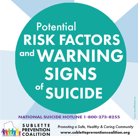 What are Potential Risk Factors & Warning Signs of Suicide?
