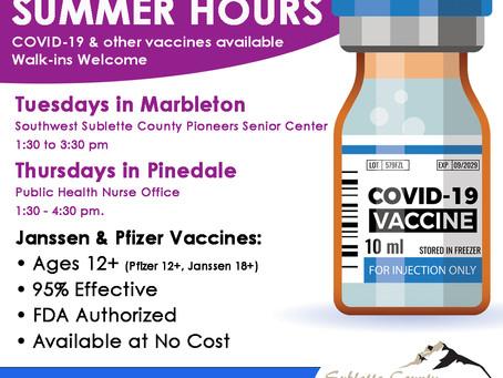 Sublette COVID Briefing: June 11, 2021