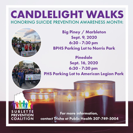 2020 Candlelight Walks in Honor of Suicide Prevention Awareness Month