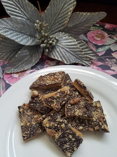 2lb Box of Dark Chocolate Toffee