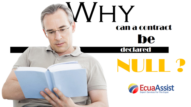 Why a contract can be declare null?