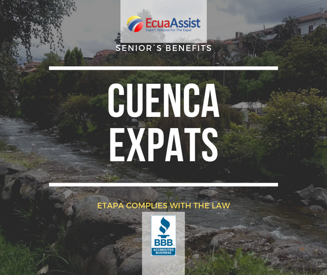 ETAPA - CUENCA EXPAT SENIOR´S BENEFITS