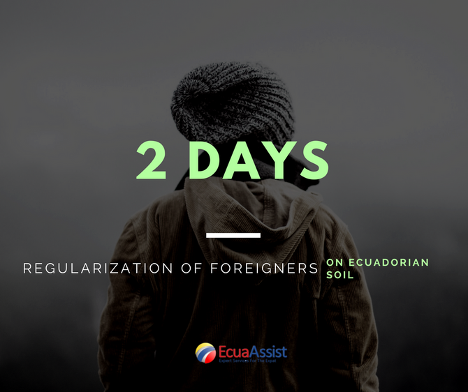 TWO MORE DAYS FOR FOREIGNERS´ REGULARIZATION