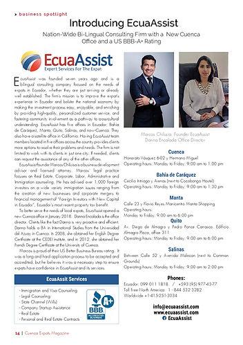 EcuaAssist Cuenca Expats magazie