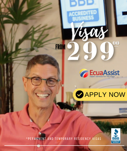 VISAS TO ECUADOR FROM 299