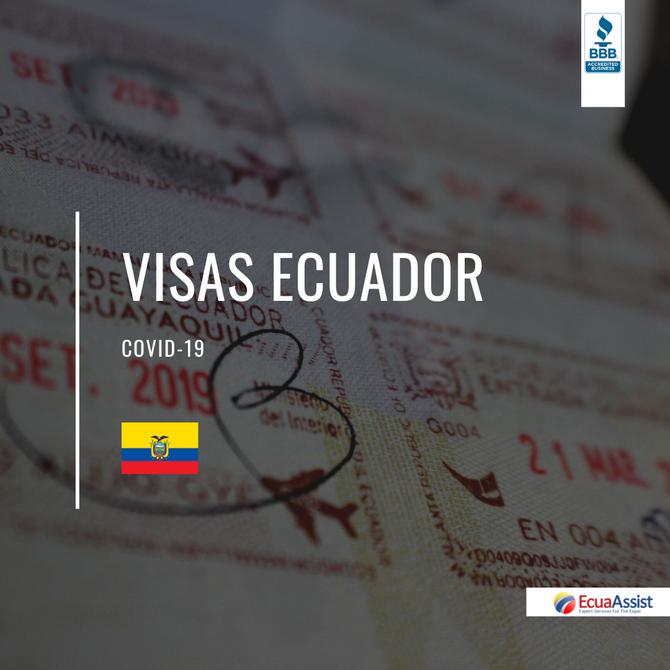SUSPENSIÓN DE MULTAS MIGRATORIAS Y APROBACIÓN DE VISAS DURANTE LA EMERGENCIA DEL COVID-19 EN ECUADOR
