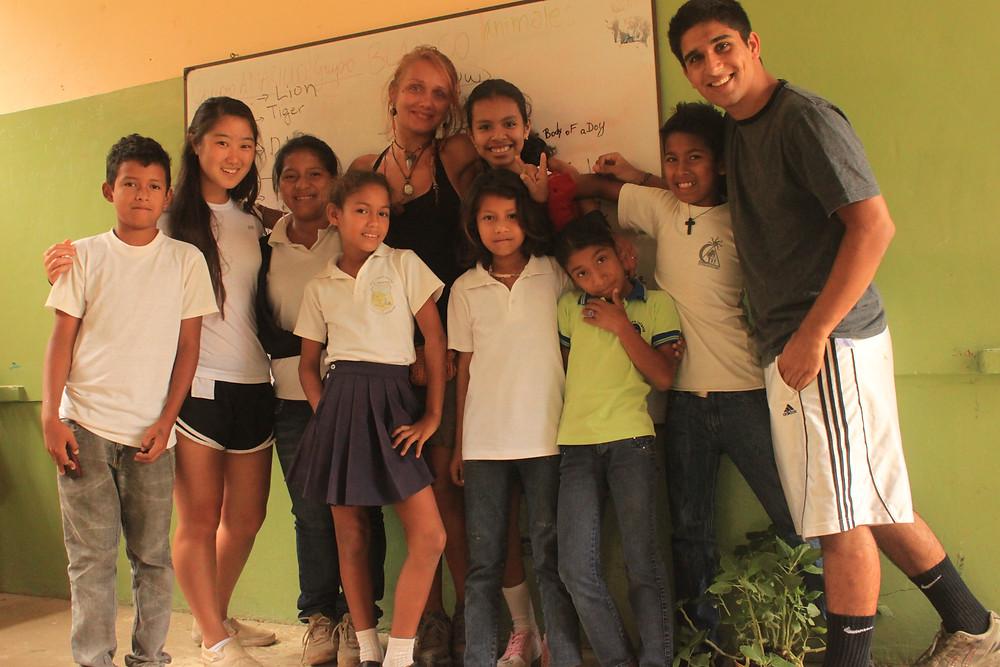 Volunteer in school.JPG
