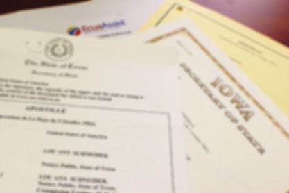 Apostille document