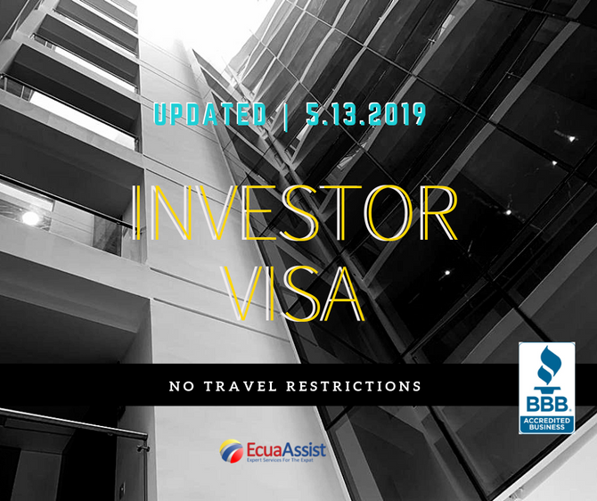 INVESTOR VISA (2019), NO TRAVEL RESTRICTIONS