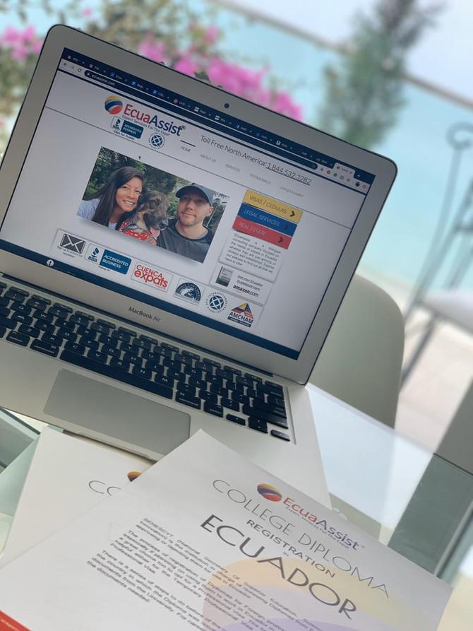 Senescyt Diploma Process (College Diploma) (Professional Visa)