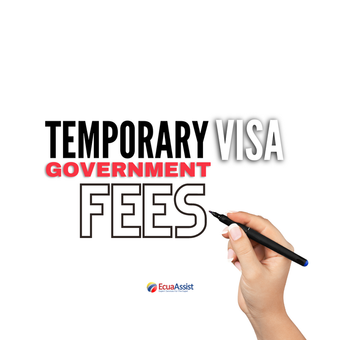 What are the Government Fees for a Temporary Residency Visa?
