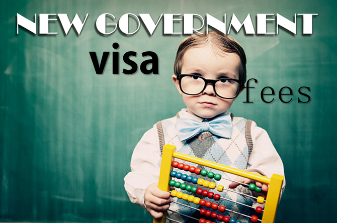 New Government visa fees starting Jan 2016