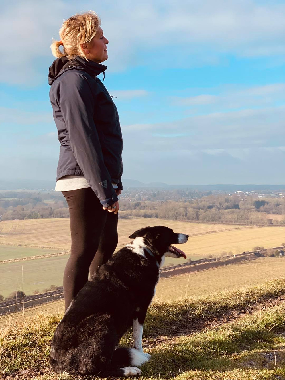 """<img src=""""dog and a woman.jpg"""" alt=""""Dr Sophie Bell with her rescue dog"""">"""