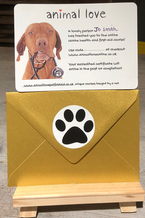Gift Voucher - Online Canine Health & First Aid Course