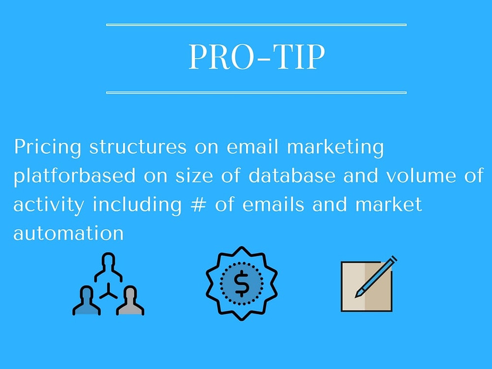 Size of database affects pricing structures of email marketing