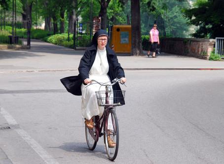 Ein Fahrrad als Dienstwagen!