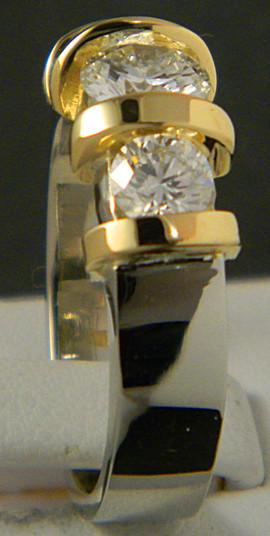18k 2 tone 3 diamond ring3.JPG