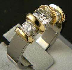 18k 2 tone 3 diamond ring.JPG