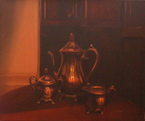 L'Heure du thé,, 20 po. x 24 po., huile
