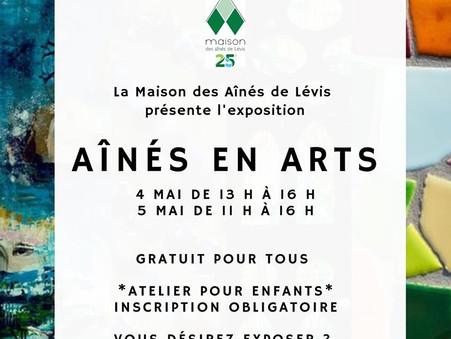 "Exposition ""Aînés en Arts"" mai 2019"