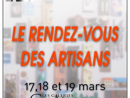 Rendez-Vous des Artisans: 17-18 et 19 mars 2017