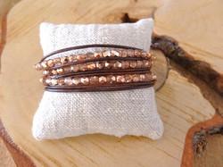 Bracelet wrap en cuir multirangs,.jpg