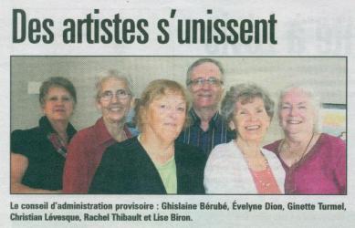 JOURNAL de LÉVIS-article publié: 25 septembre 2012