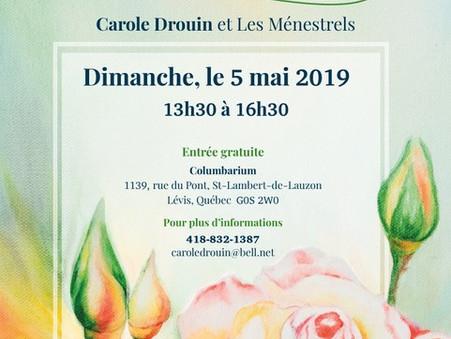 Carole Drouin lance un album