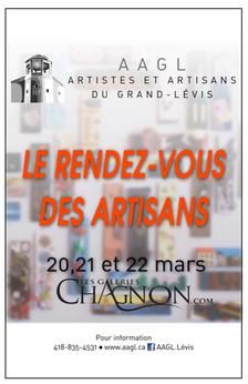 Le Rendez-Vous des Artisans: 20-21-22 MARS   (ANNULÉ) - REMIS À UNE DATE ULTÉRIEURE