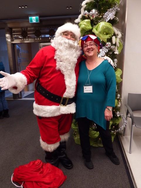 Le Père Noël et Hélène Plante