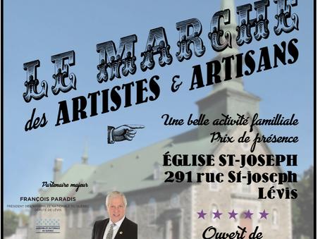 Le Marché des Artistes et Artisans (SAMEDI seulement)
