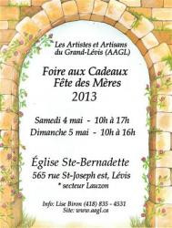 FOIRE aux CADEAUX Fête des Mères 2013: 4 et 5 mai