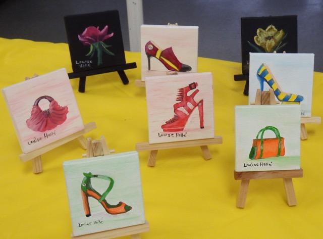 Toiles miniatures de Louise Hallé